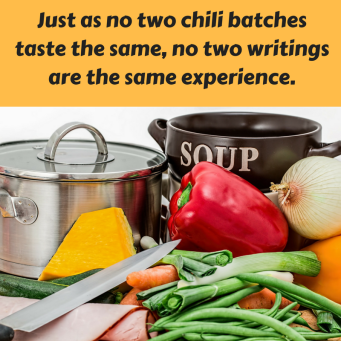 Just as no two chili batches taste the same, no two writings are the same..png